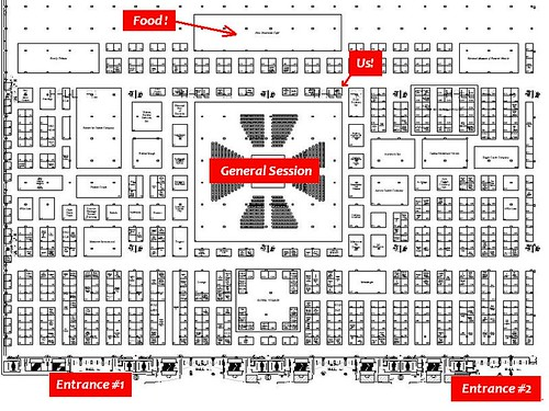 NFDA 2008 Floorplan With Food by you.