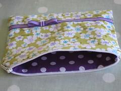 inside purple zipped pouch