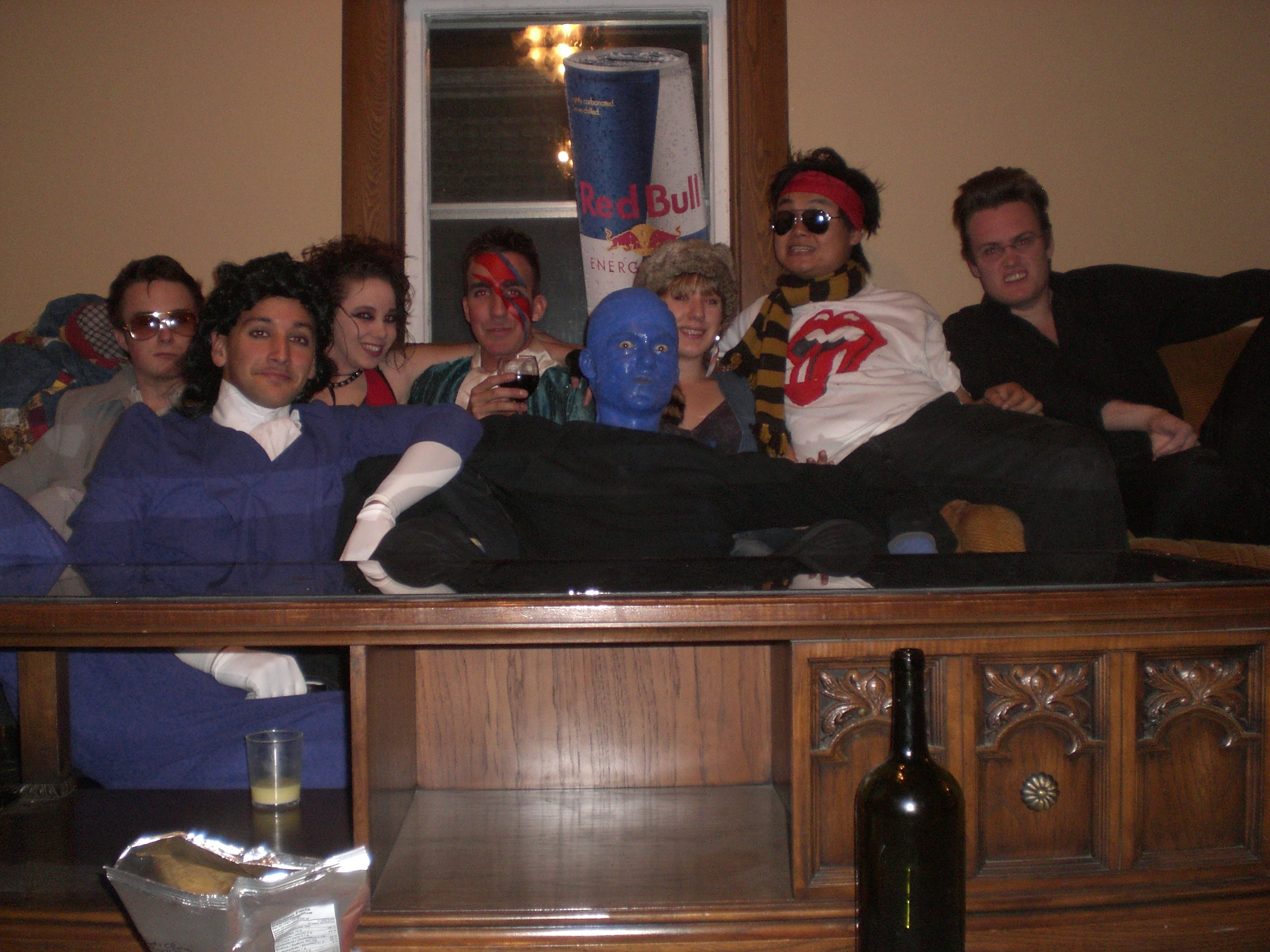 Elvis, Prince, Whoracula, Bowie, Blueman, ??, Keith Richards, and Johnny Cash