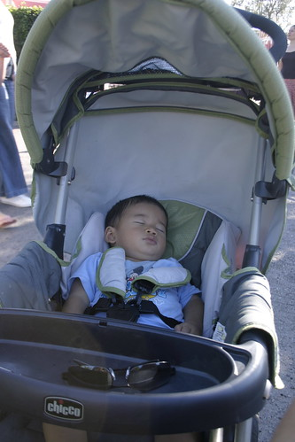 by the time we had gotten over to fantasyland, our intrepid adventurer was tired out.