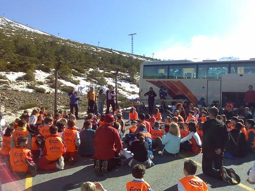 Fiesta de fin de temporada de Econieve en Valdesquí