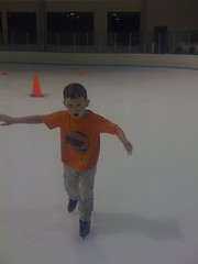 Jon Parker Ice Skating for the First Time