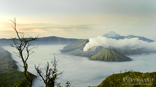 Mount Bromo minutes before sunrise