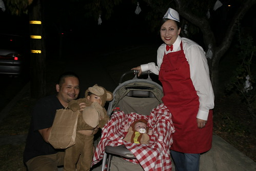 a Hot Dog vendor and her baby Hot Dog!