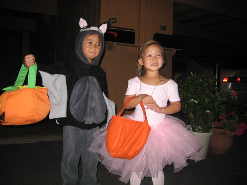 Bat boy and pwincess in action
