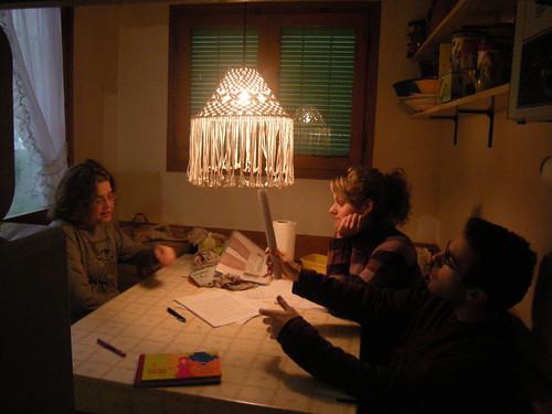 Sant Pere, Pilar, Íngrid i Carlos