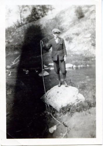 man on a rock
