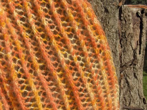 orange lace close-up