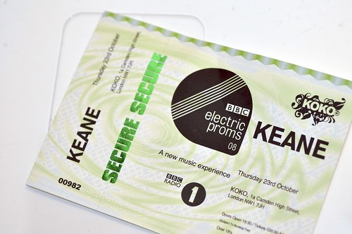 Keane ticket
