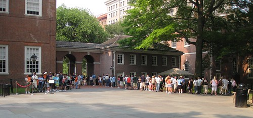 Lineup for Independence Hall