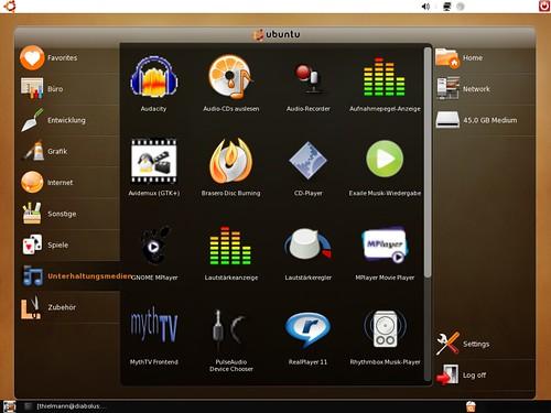 Netbook Remix executando em 1024x768