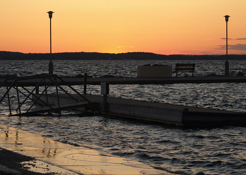 Lake Mendota - Sun Setting on Flooding