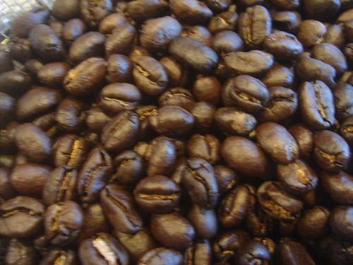 烘好的咖啡豆