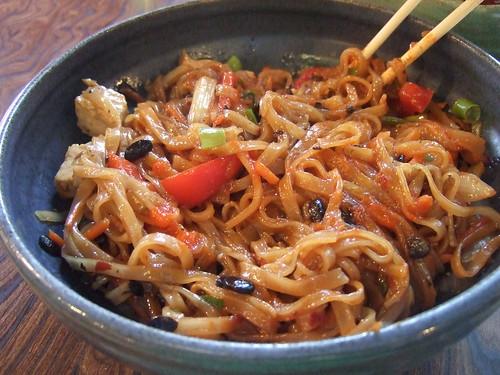 Black bean noodles at aja noodles fairport ny before for Aja asian cuisine menu