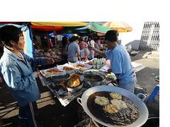 Chai pia stall at Sibu Sunday market