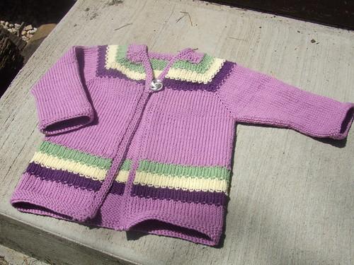 Violet Stripe Cardigan