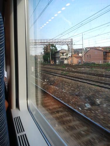 Intravisto da un treno