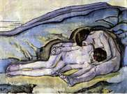 Koloman Moser. Deux jeunes filles, 1913-1914.