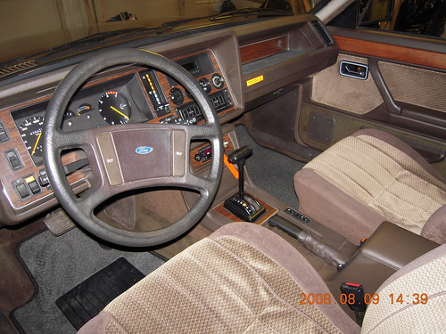 The interior of a Ford Granada