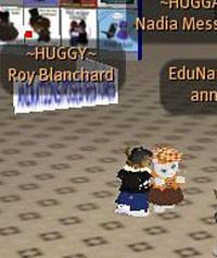 Roy hugs Nadia