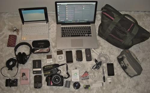 apple lensbaby polaroid coach nikon ipod blackberry... (Photo: schatz on Flickr)
