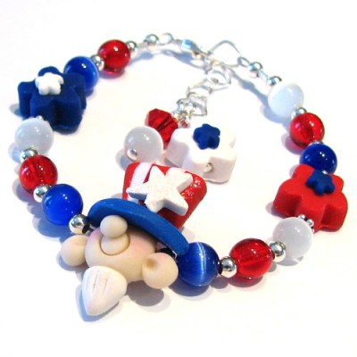 Uncle Sam Polymer Bracelet