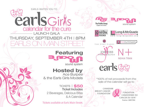 Earl's Girls Calendar for the Cure Launch Gala