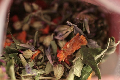 Herbs in tea mix