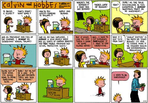 Calvin y Hobbes y como salir de la crisis
