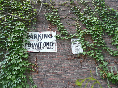 Parking by permit only