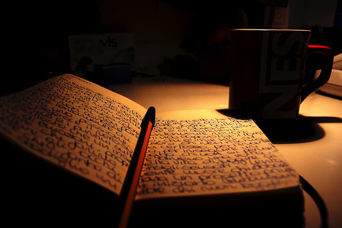 writing in the night