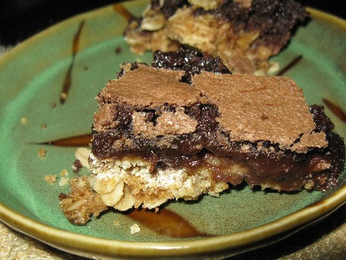 caramel-oatmeal brownies