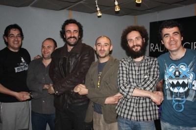 Con Mane, Nacho y Manolo de Rostiva