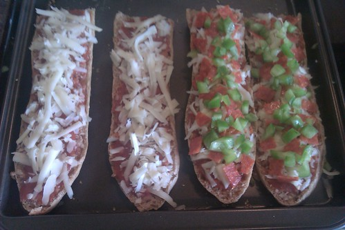 French Bread Pizza, before baking