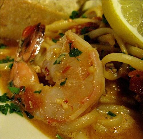 shrimp diavolo at Kiawe Kitchen