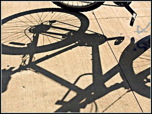Blue Star and Shadow Bike