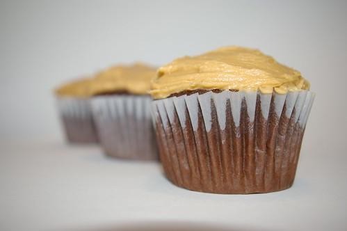 Row of cupcakes
