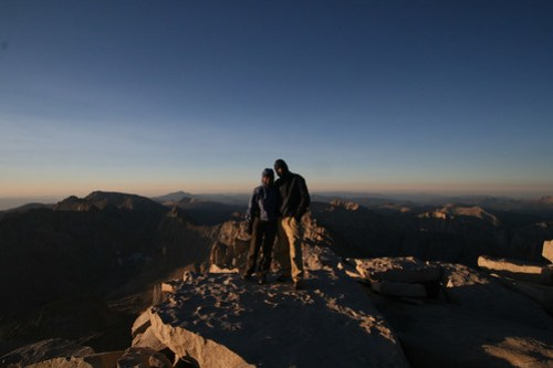6:44 AM - we survived the unexpected night on top of Mt. Whitney