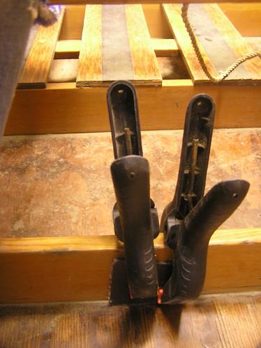 repairing a gouge in a rib