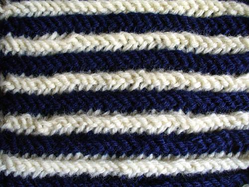 Double Garter Swatch Stripe