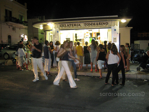 An eternal line outside Gelateria da Tommasino in Puglia, Italy