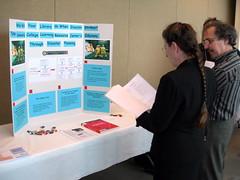 Miriam Kahn checks out a poster