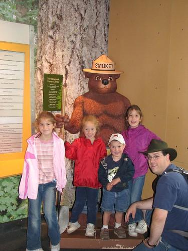 The family with Smokey Bear