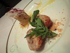 媛っこ地鶏と乾しいたけのコラボレーション2種盛り@雁飯店 中国割烹 大岩
