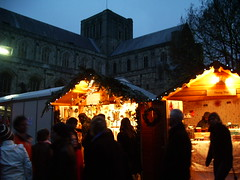 Christmas market and the cathedral