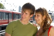 Happy teenagers in love by travelstar.