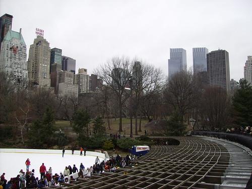 Skating rink in Central Park
