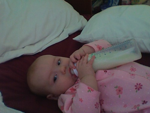 big girl with the bottle.