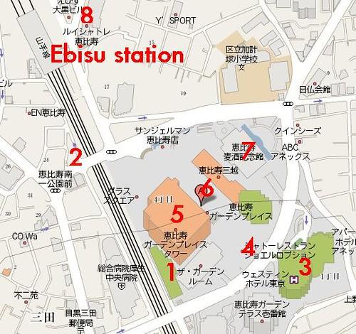 Yebisu Garden Place map