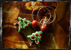 Orecchini albero di natale - Christmas tree earrings MEHNNRC